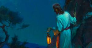 painting christ lamb night malm HOME
